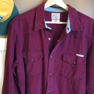 "Vintage Lucky Brand ""Western"" button up"